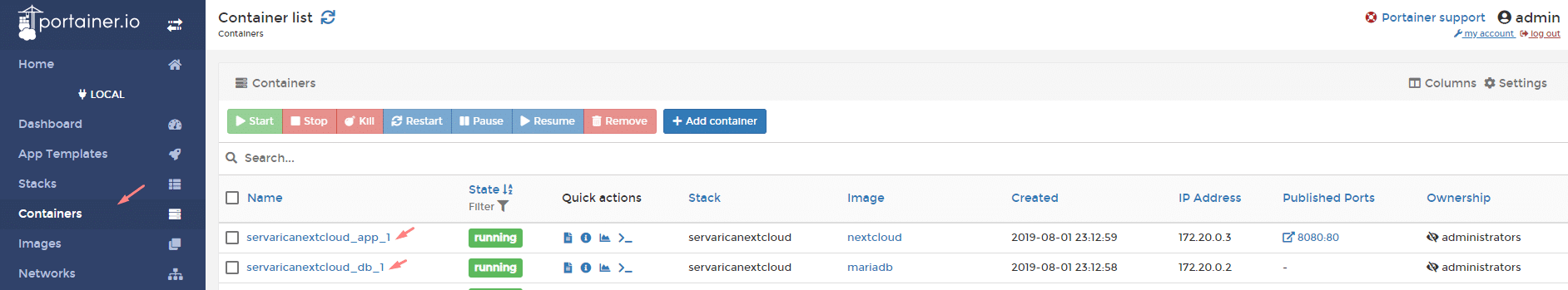 Nextcloud Installation Using Docker – ServaRICA